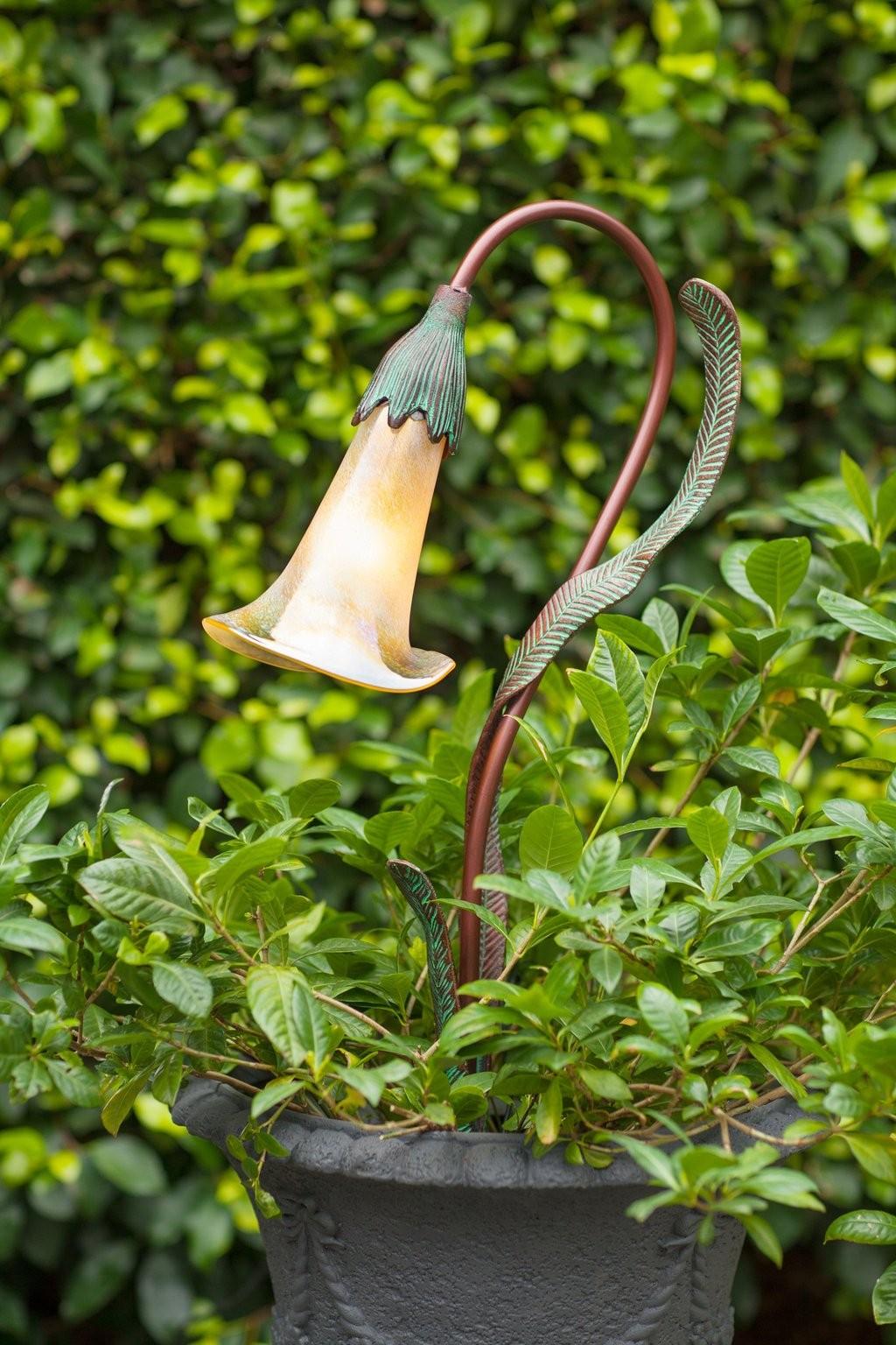 Burmese Calla Lily Garden Light Fixture Illuminator