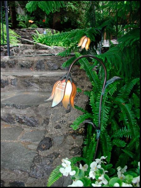 Spanish Bluebell Stained Glass Flower Garden Light