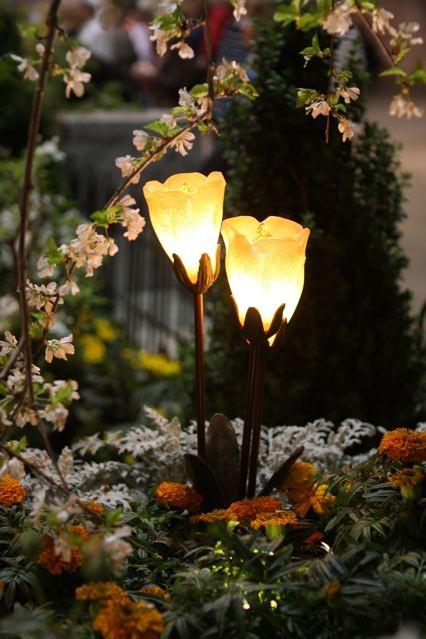 Hand Blown Glass Tulip Cluster Light Fixture Illuminator