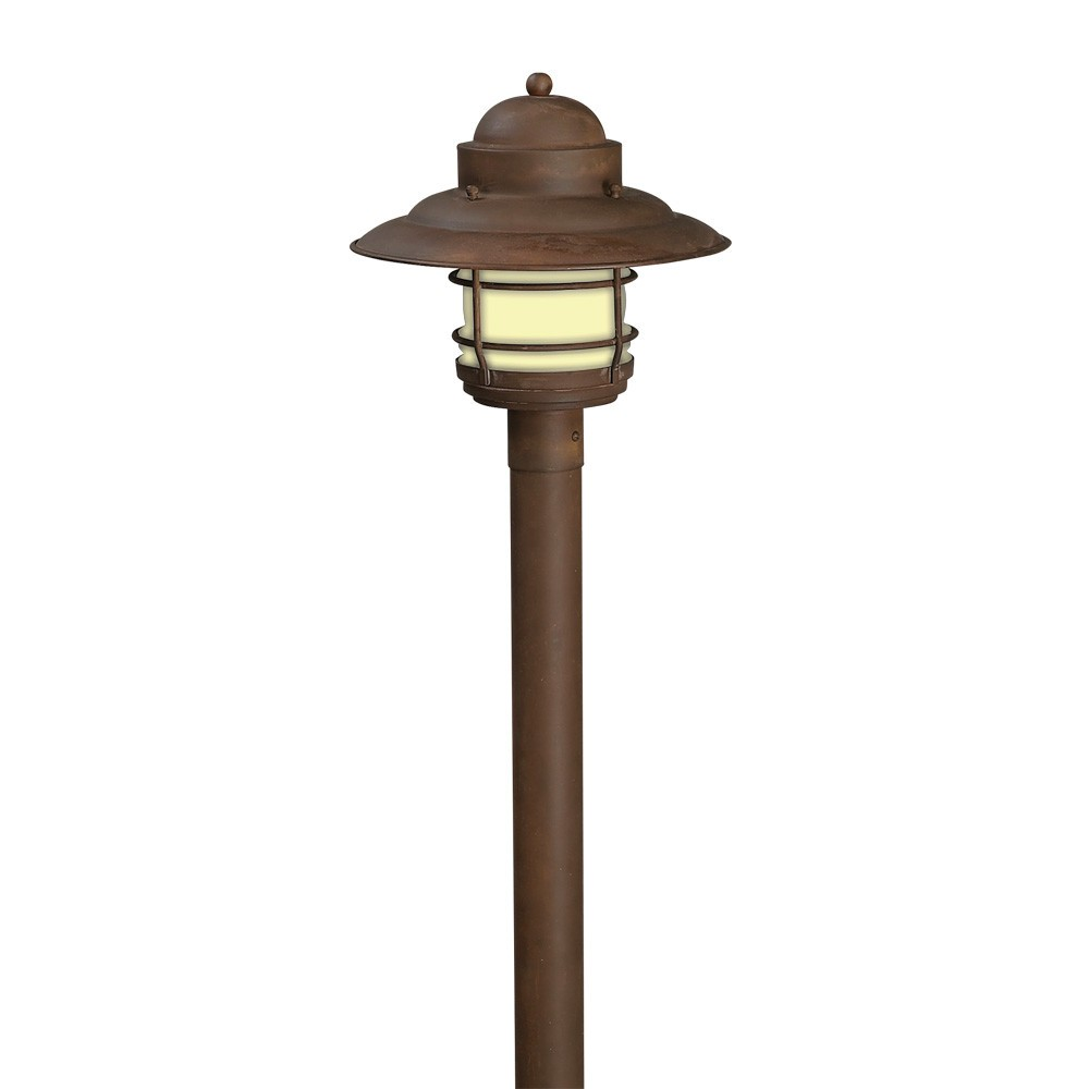 160-M Solid Brass Bollard Light 120v or 12v Perfect for Seaside Locations