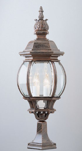 4072   Powder Coated Cast Aluminum Pilaster Light