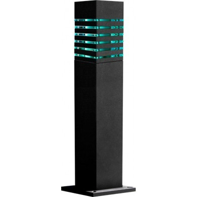 D 170 Powder-Coated  Solid Steel Square LED Bollard Light