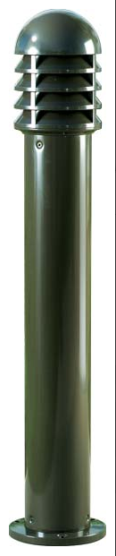 D 3400 Powder-coated Cast Aluminum Bollard Light