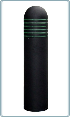 D 500 Series Powder-Coated  Solid Steel Bollard Light