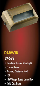 Darwin LV 59 S Surface Mount Low Voltage Solid Cast Brass Step Light