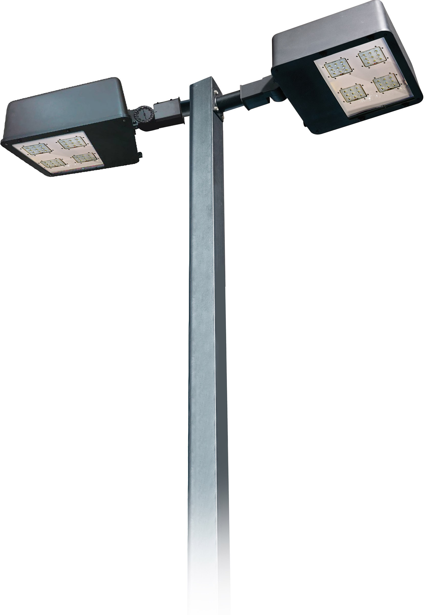 DF LED 7750  Double Headed Powder Coated Cast Aluminum Post Light With Pole / Parking lot lighting / Street Light