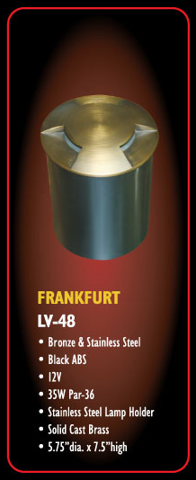 Frankfurt LV 48 Low Voltage Solid Cast Brass Well Light