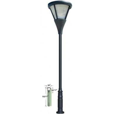 GM 5800  Powder-coated cast aluminum Pole Light / Parking lot lighting / Street Light