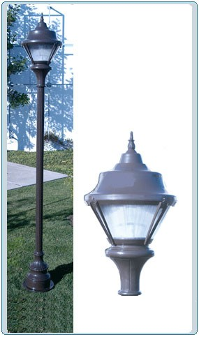 GM 9000 Cast Aluminum Post Light / Parking lot lighting / Street Light