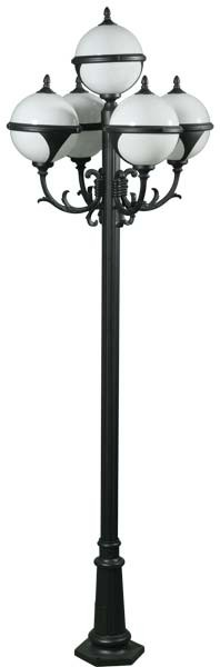 GM 9705  Powder Coated Cast Aluminum Pole Light