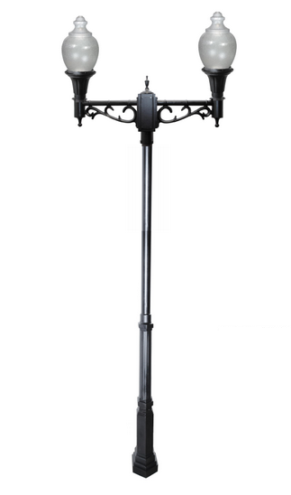 ZL-8002    Cast Aluminum LED Double Head Post Light