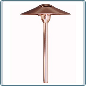 LV 214 Solid Brass Path Light  LED Option Available
