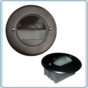 LV 702 LED Low Voltage Powder Coated Cast Aluminum Step Light