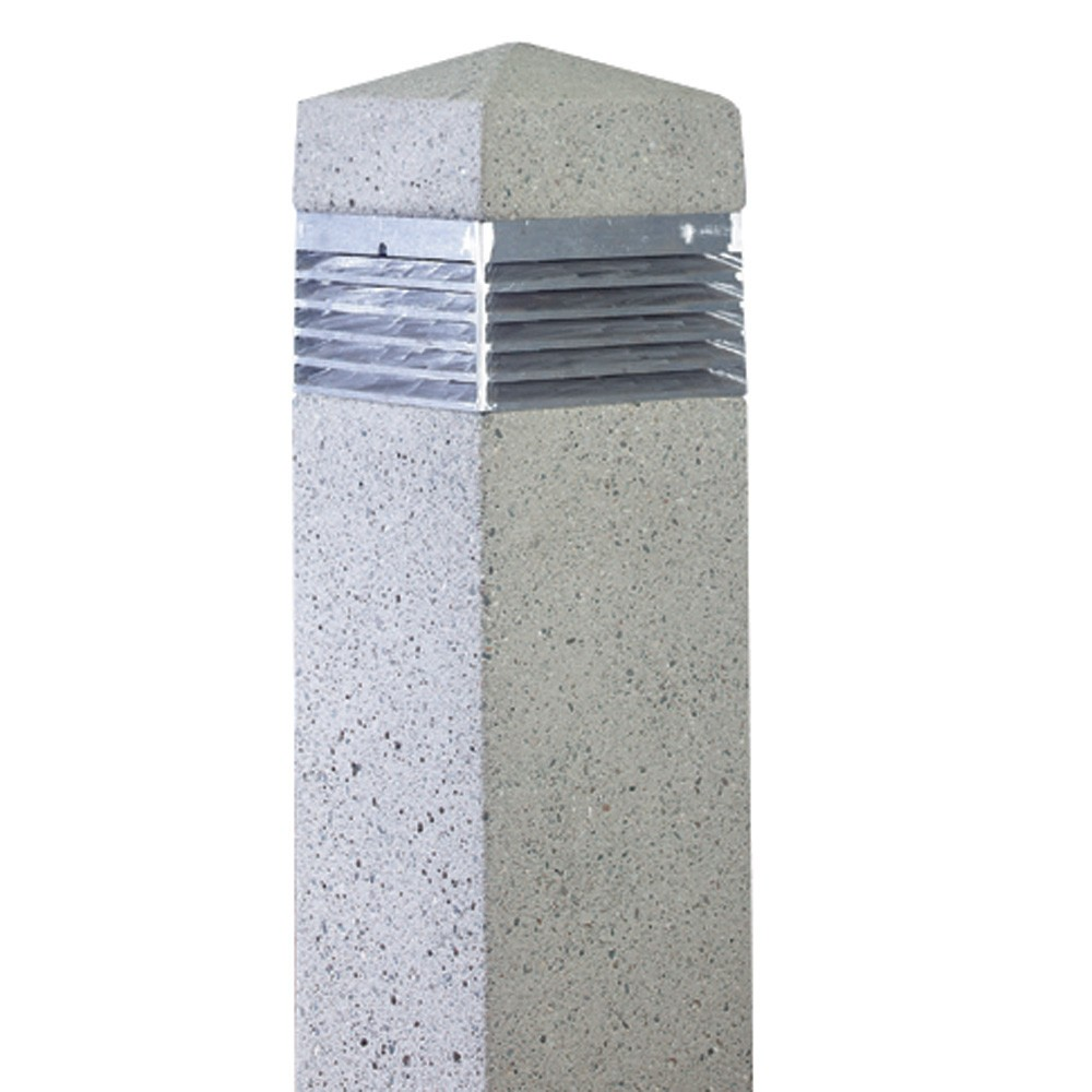 Sq 12 Square Concrete Bollard Light