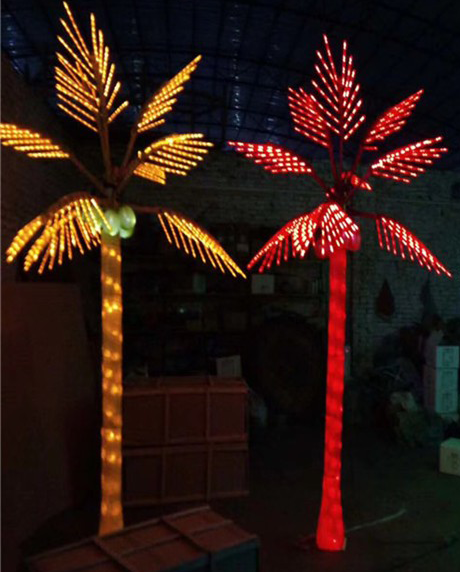 LED Coconut Palm Tree Sizes 10ft  Available Colors: Orange, and Red