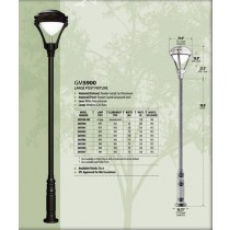GM 5900 Powder-coated cast aluminum  Post  Light / Parking lot lighting / Street Light