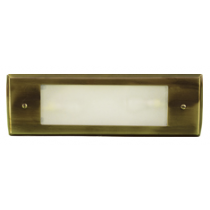 LV 614 LED Low Voltage Brass Step Light