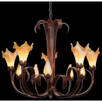 Beautiful 10 Light Star Lily Chandelier
