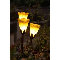 Hand Blown Tulip Cluster Garden Light